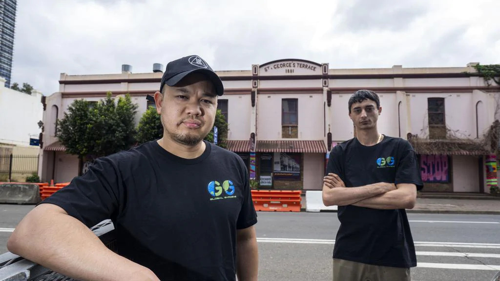 Artists take over St George's Terrace Parramatta with Guerrilla Gallery, Ballin' on a Budget